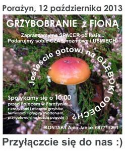 Grzybobranie z FIONĄ - 2013